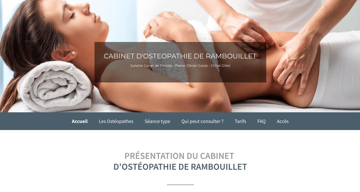 site internet ostéopathe